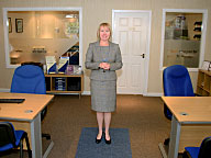 Bernadette Morris at Morris Property's Heywood Office