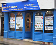 Morris Property's Heywood Office - Shop Front